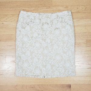 3/$15 Cynthia Rowley lace skirt size 10